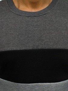 Grafitová pánská mikina bez kapuce Bolf J36