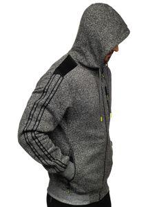 Grafitová pánská mikina na zip s kapucí Bolf TC960