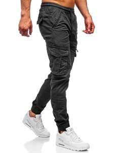 Grafitové pánské jogger kapsáče Bolf CT6701