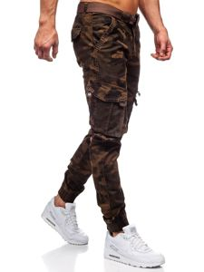 Hněde pánské jogger kapsáče s páskem Bolf CT6013