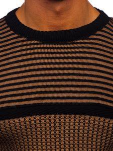 Hnědo-černý pánský svetr Bolf 1013