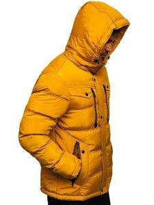 Kamelová pánská prošívaná zimní bunda Bolf 1182