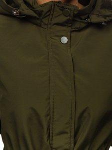 Khaki dámská přechodová parka Bolf 6364