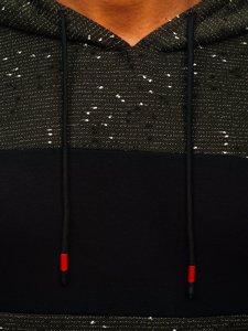 Khaki pánská mikina s kapucí Bolf KS2230