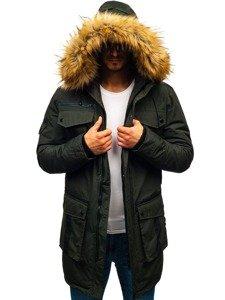 Khaki pánská zimní bunda Bolf 201812