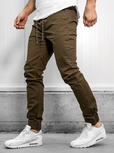 Khaki pánské jogger kalhoty Bolf KA951