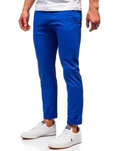 Kobaltové pánské chino kalhoty Bolf 1146