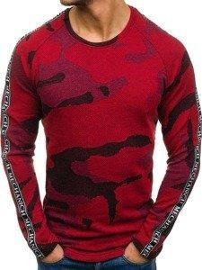 Maskáčovo-červená pánská mikina bez kapuce Bolf 2039