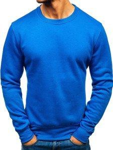 Modrá pánská mikina bez kapuce Bolf BO-01