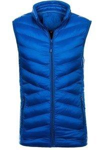 Modrá pánská vesta bez kapuce Bolf SM21
