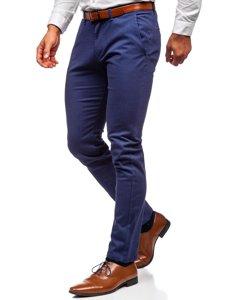 Modré pánské chino kalhoty Bolf 1143