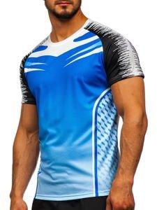 Modré pánské sportovní tričko Bolf KS2059