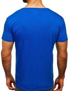 Modré pánské tričko s potiskem Bolf KS1971