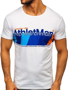 Modré pánské tričko s potiskem Bolf SS10905