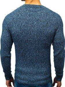 Modrý pánský svetr Bolf H1810