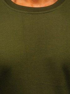 Olivová pánská mikina bez kapuce Bolf 2001