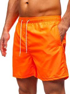 Oranžové pánské plavecké šortky Bolf ST019