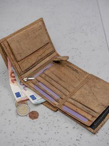 Pánská hnědá kožená peněženka 3141