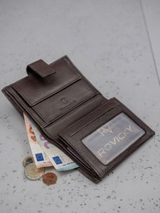 Pánská hnědá kožená peněženka 3147