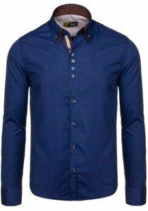 Pánská košile BOLF 4706 tmavě modrá