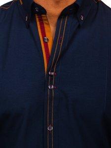 Pánská košile BOLF 4707 tmavě modrá
