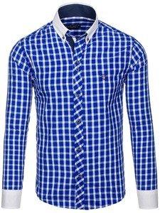 Pánská košile BOLF 5737 kobaltová