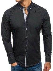 Pánská košile BOLF 5777 černá