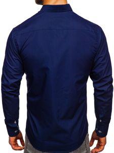 Pánská košile BOLF 5796 tmavě modrá