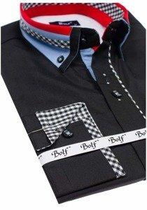 Pánská košile BOLF 6874 černá