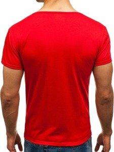 Pánské červené tričko bez potisku Bolf 2006
