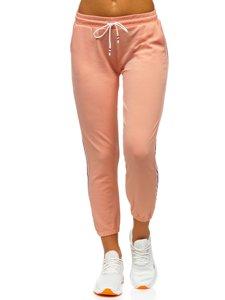 Růžové dámské tepláky Bolf YW01020A