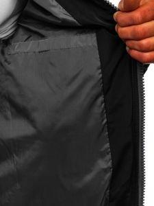 Šedá pánská sportovní zimní bunda Bolf Jk398