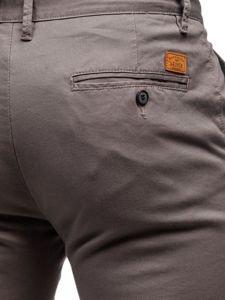 Šedé pánské chino kalhoty Bolf KA969