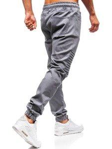 Šedé pánské jogger kalhoty Bolf 0829