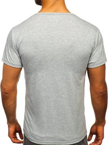Šedé pánské tričko s potiskem Bolf KS1958