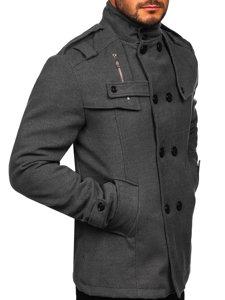 Šedý pánský kabát Bolf 8857