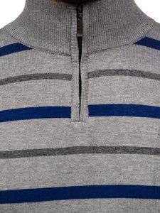 Šedý pánský svetr Bolf W05
