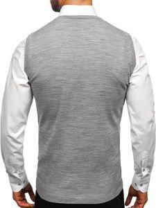 Šedý pánský svetr bez rukávů Bolf 2500