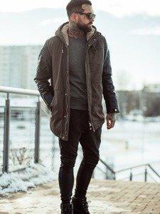 Stylizace č. 116 - zimní bunda, mikina bez kapuce, jogger kalhoty, obuv
