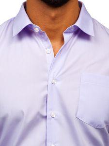 Světle fialová pánská elegantní košile s dlouhým rukávem Bolf 0003