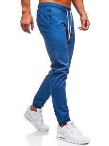 Světle modré pánské jogger kalhoty Bolf 1145