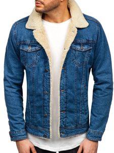 Tmavě modrá pánská džínová bunda Bolf 1901