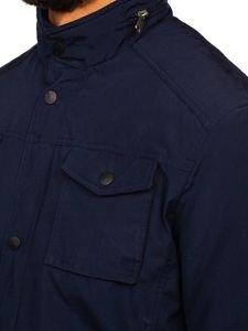 Tmavě modrá pánská elegantní přechodová bunda Bolf 1850