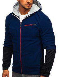Tmavě modrá pánská mikina s kapucí Bolf YL005