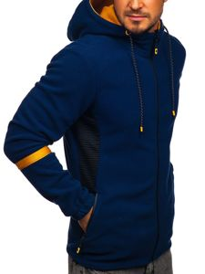 Tmavě modrá pánská mikina s kapucí Bolf YL007