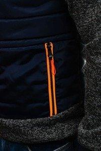 Tmavě modrá pánská sportovní přechodová bunda Bolf AK73K