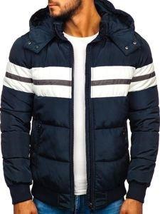 Tmavě modrá pánská sportovní zimní bunda Bolf JK397