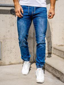 Tmavě modré pánské džínové jogger kahoty Bolf KA1539