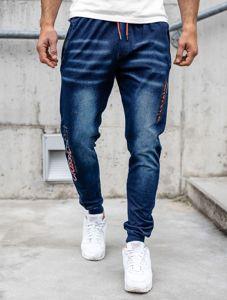 Tmavě modré pánské džínové jogger kahoty Bolf KK1102