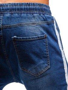 Tmavě modré pánské džínové jogger kalhoty Bolf 2055